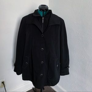 Gallery Black Trench Coat Jacket